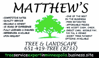 Tree Service Matthew's Tree and Landscape in Saint Francis MN
